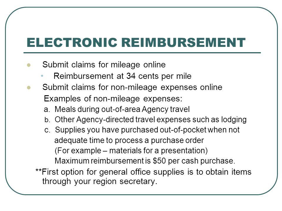 ELECTRONIC REIMBURSEMENT