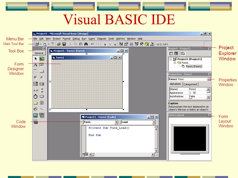 Integrated development environment ide ppt video for Online window design tool