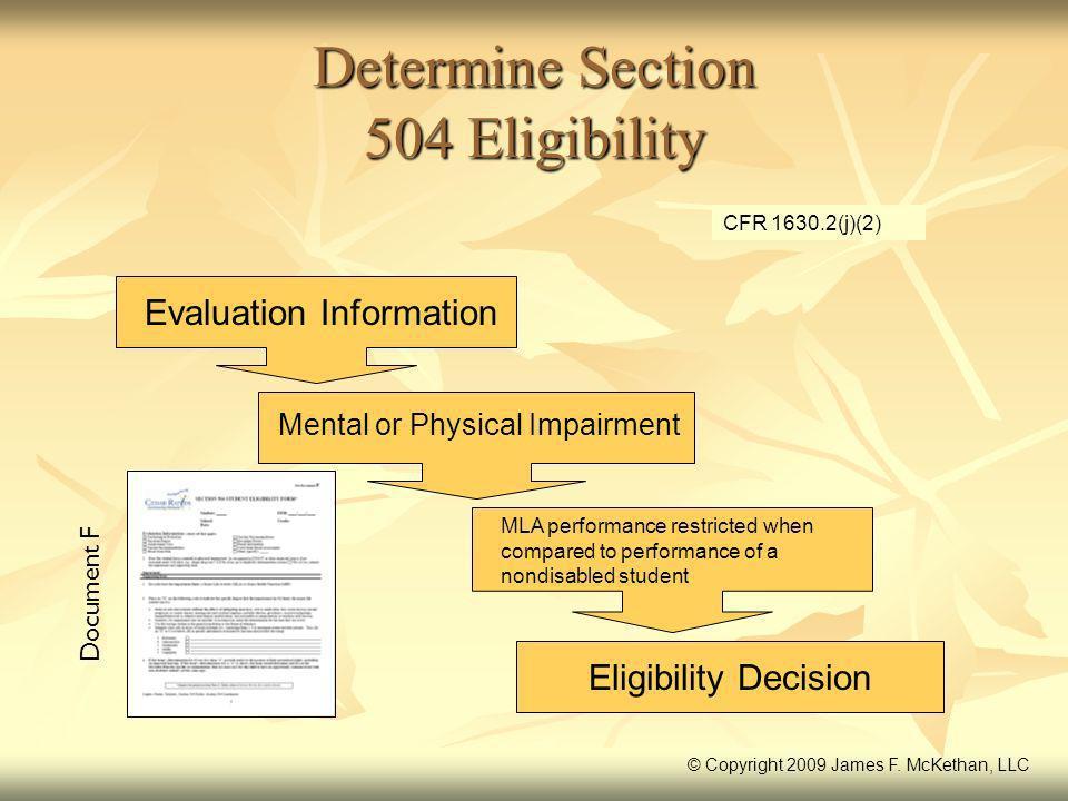 Determine Section 504 Eligibility