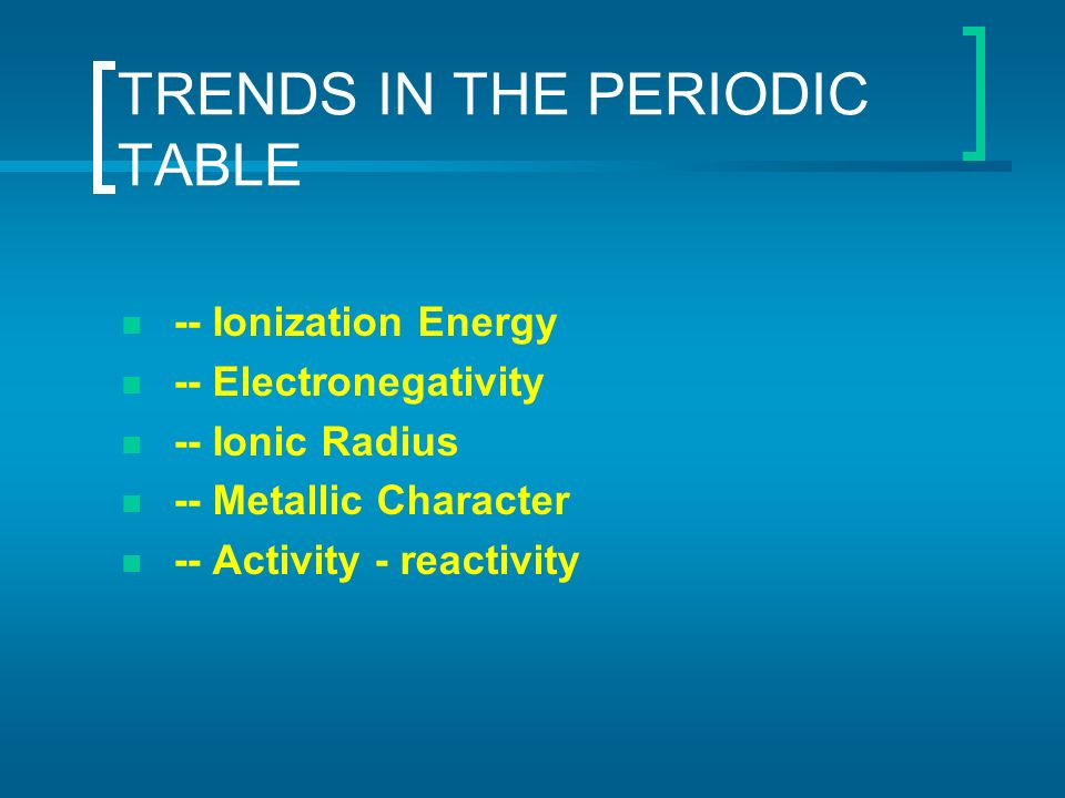 Periodic table of elements ppt video online download 35 trends in the periodic table urtaz Image collections