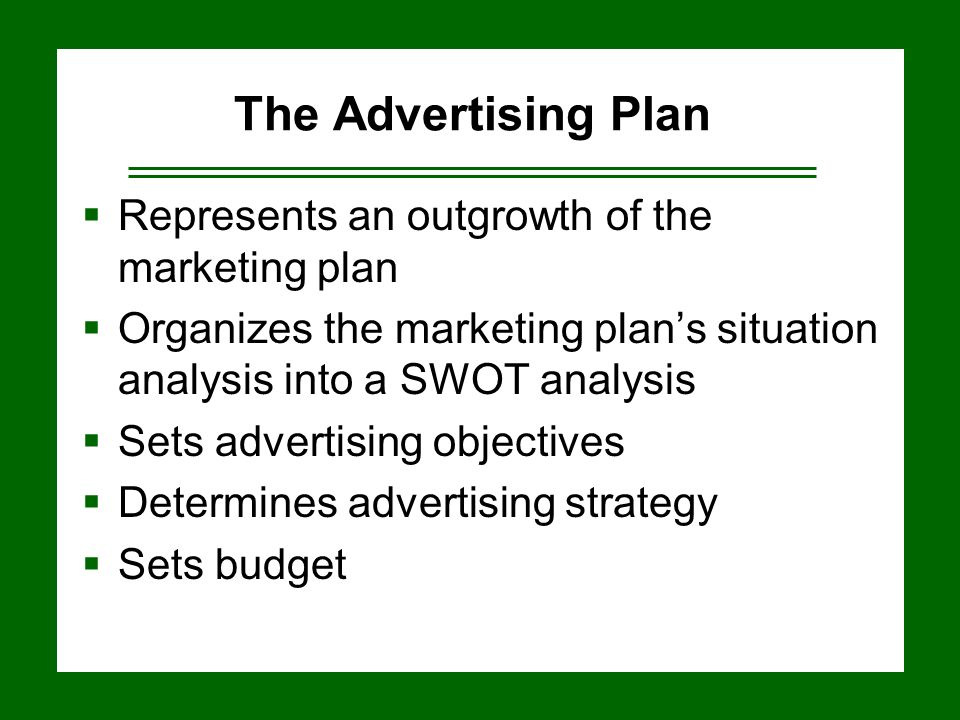 Developing Marketing And Advertising Plans  Ppt Video Online Download