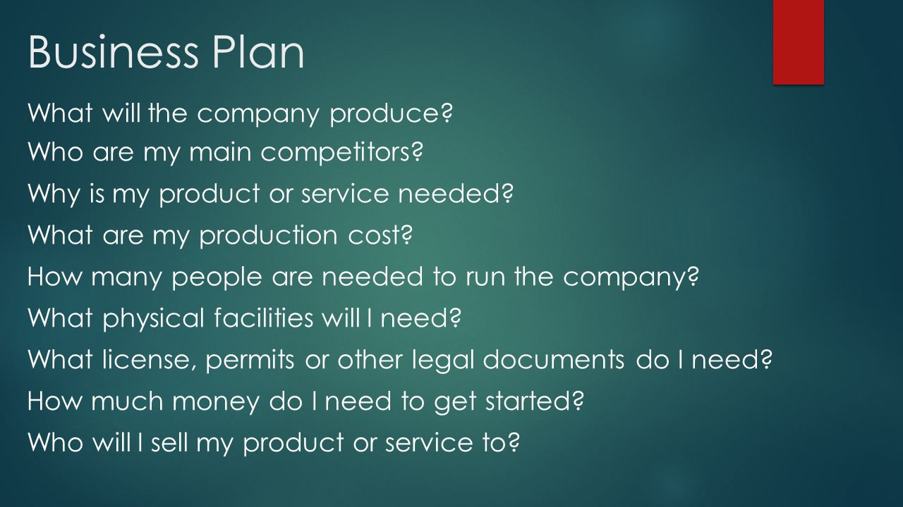Online product business plan