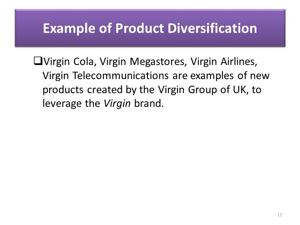 Diversification strategy virgin group