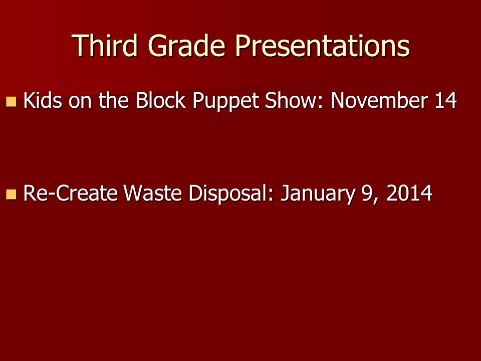 Third Grade Presentations