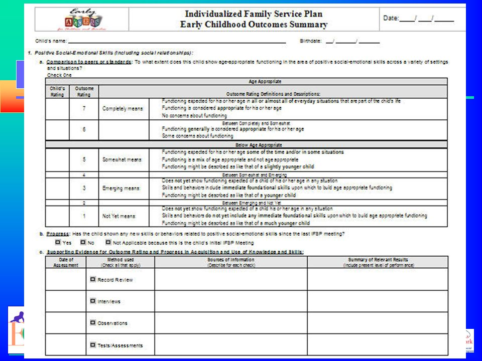 Using the Early Childhood Outcomes Summary Form - ppt download