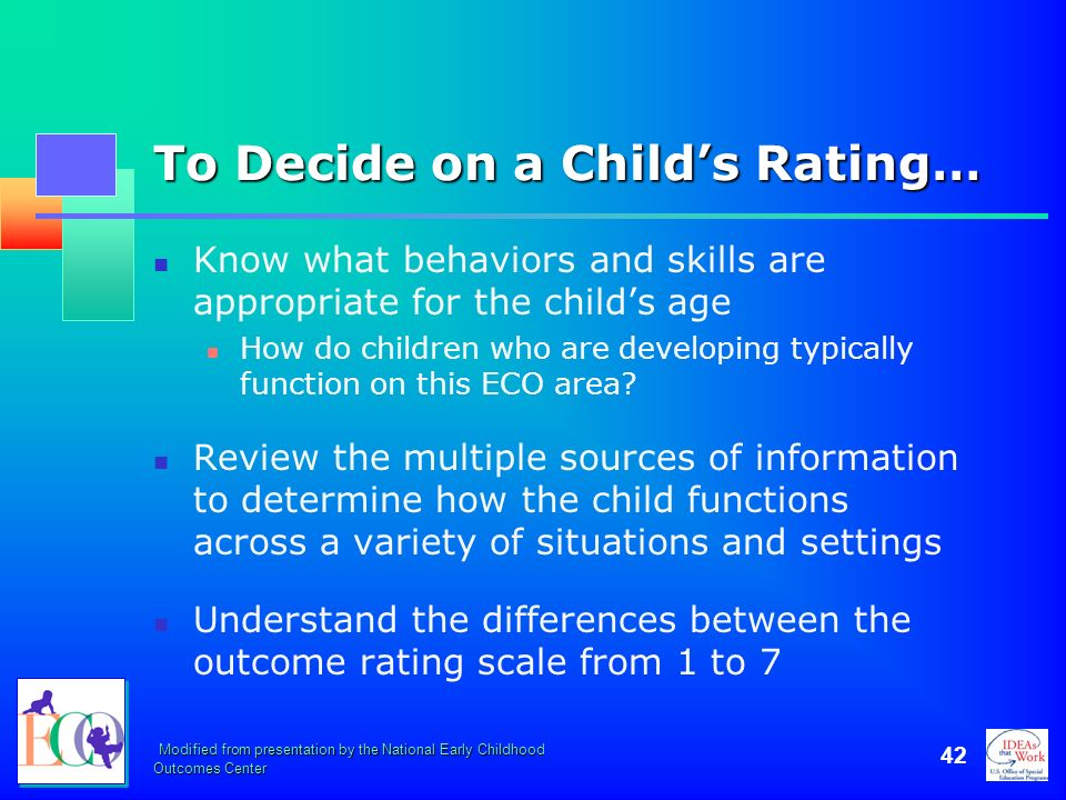 To Decide on a Child's Rating…