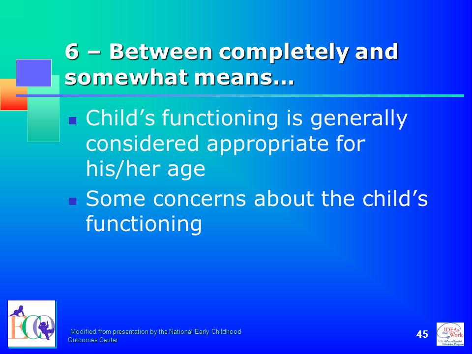 6 – Between completely and somewhat means…
