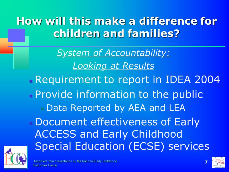 How will this make a difference for children and families