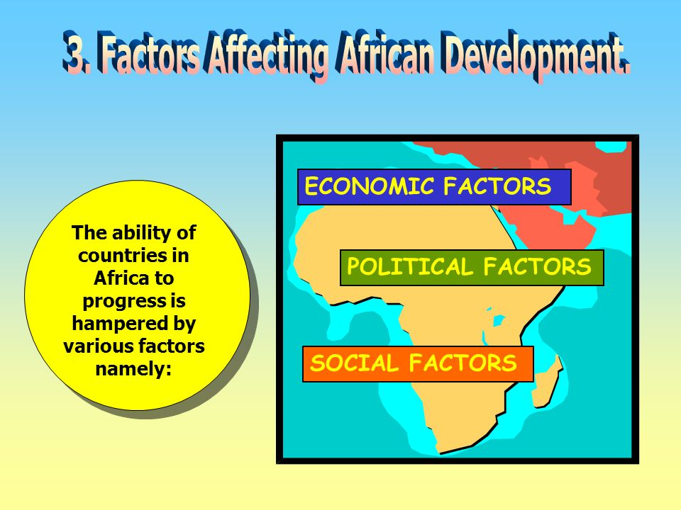 the political and economical factors with