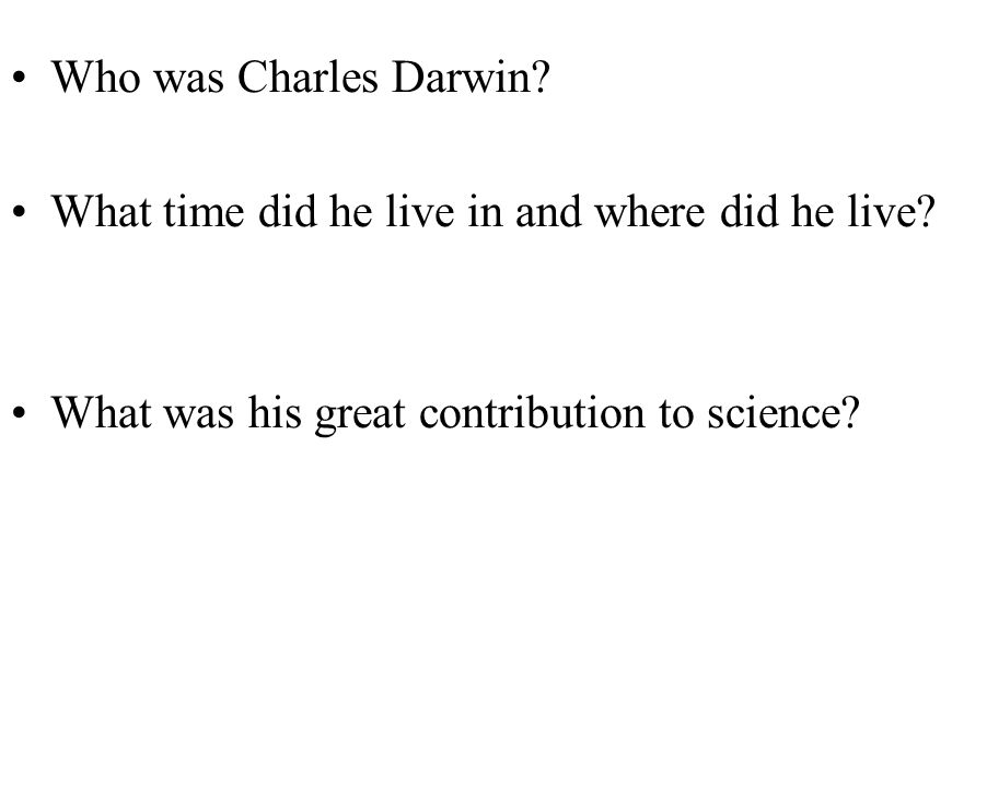 darwins contribution to science