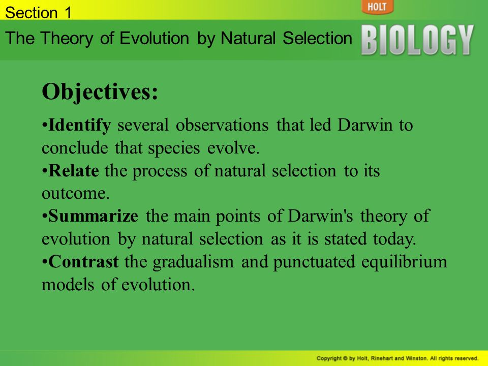 the two main points of darwins theory of evolution Charles darwin's theory of evolution there are 4 main points to the theory of evolution as outlined as follows: evolution has occurred evolutionary change is gradual, requiring thousands or millions of years.