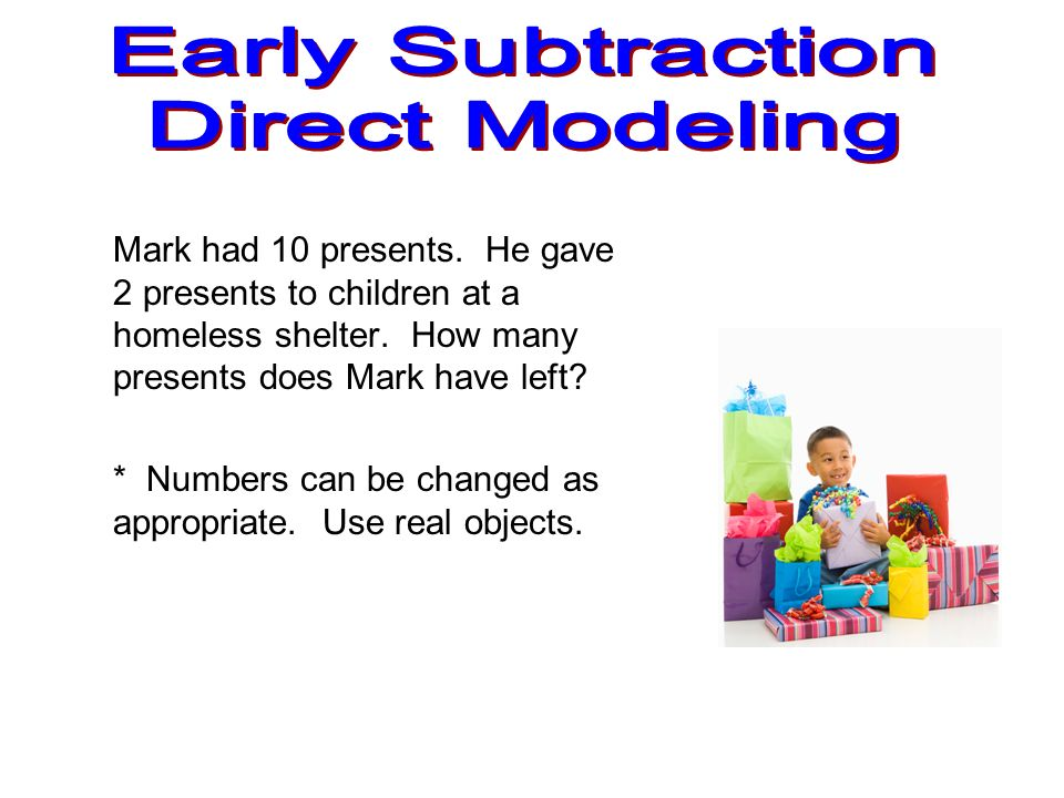 Early Subtraction Direct Modeling