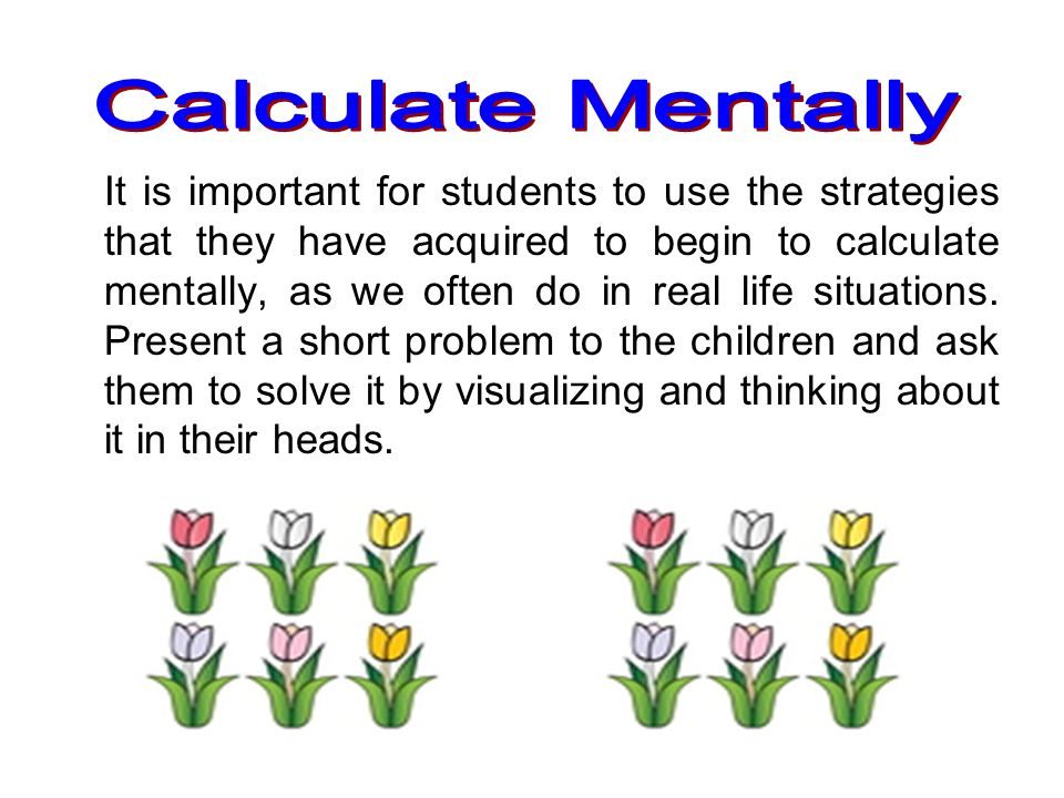 Calculate Mentally
