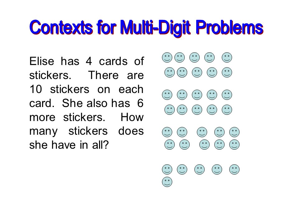 Contexts for Multi-Digit Problems