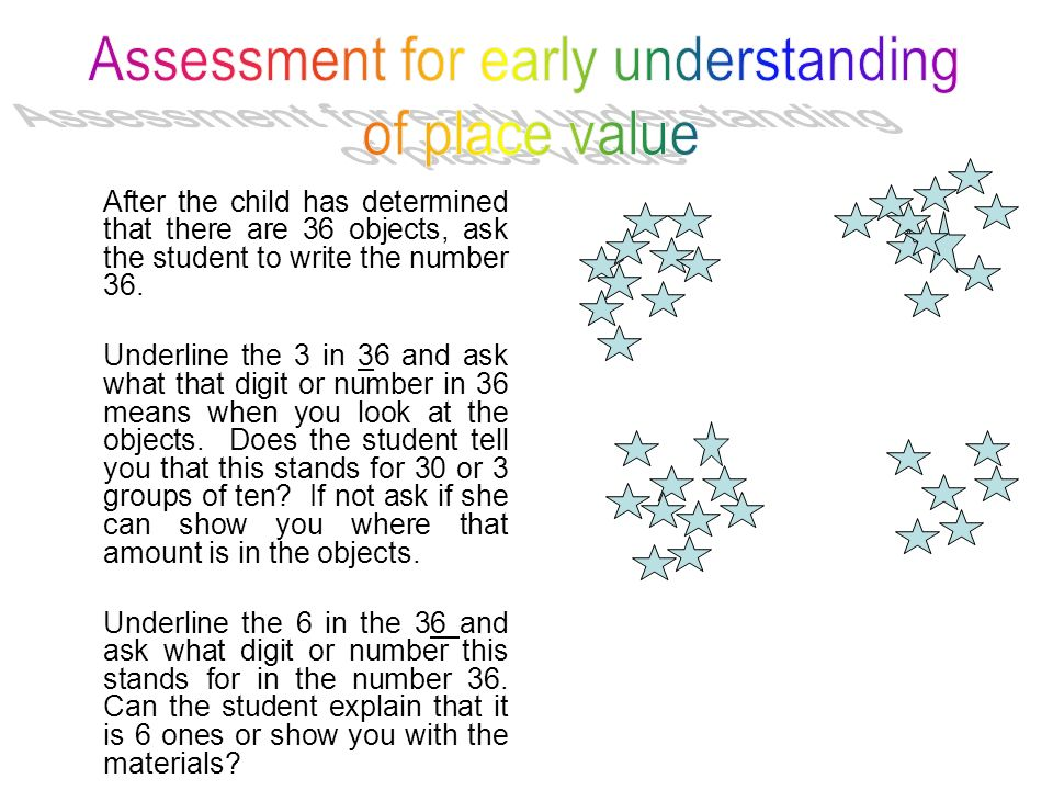 Assessment for early understanding
