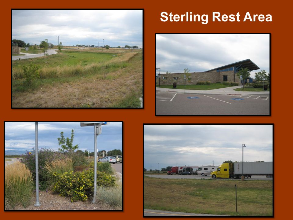 Sterling Rest Area The Sterling Rest Area is located 1 mile west of Interstate 76 (I-76) at mile marker 125.