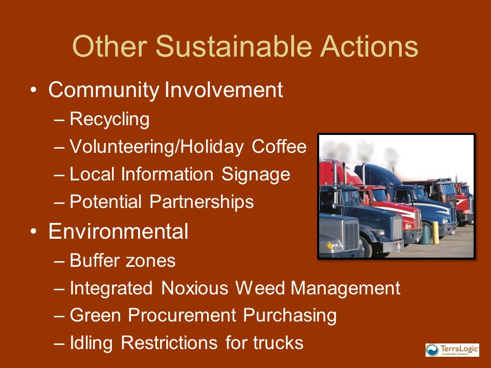 Other Sustainable Actions