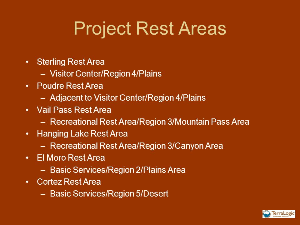 Project Rest Areas Sterling Rest Area Visitor Center/Region 4/Plains