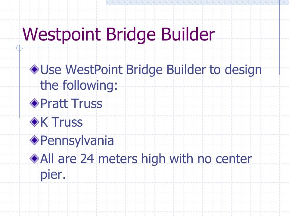 west point bridge builders