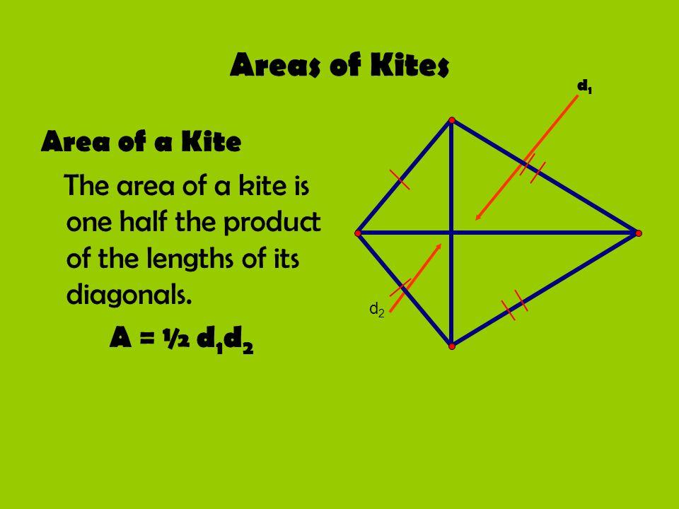 Areas of Kites Area of a Kite