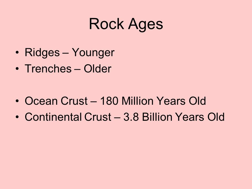 Rock Ages Ridges – Younger Trenches – Older