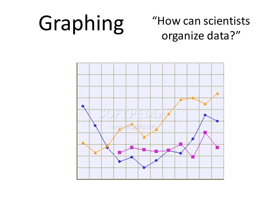 How can scientists organize data