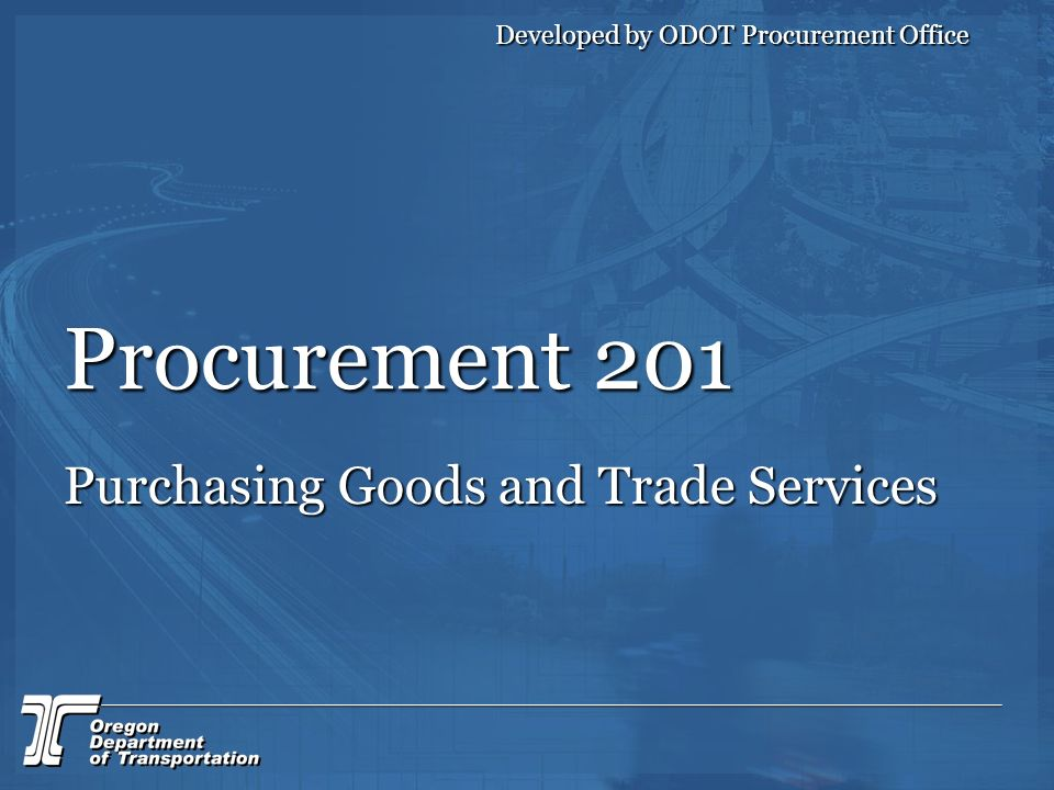 Purchasing Goods and Trade Services