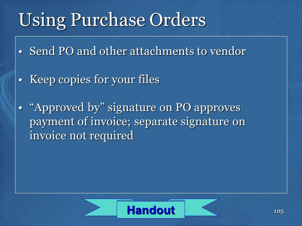 Using Purchase Orders Send PO and other attachments to vendor