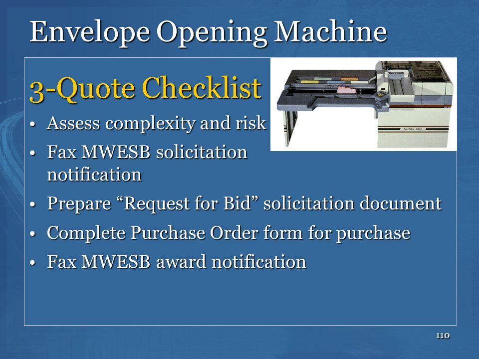 Envelope Opening Machine