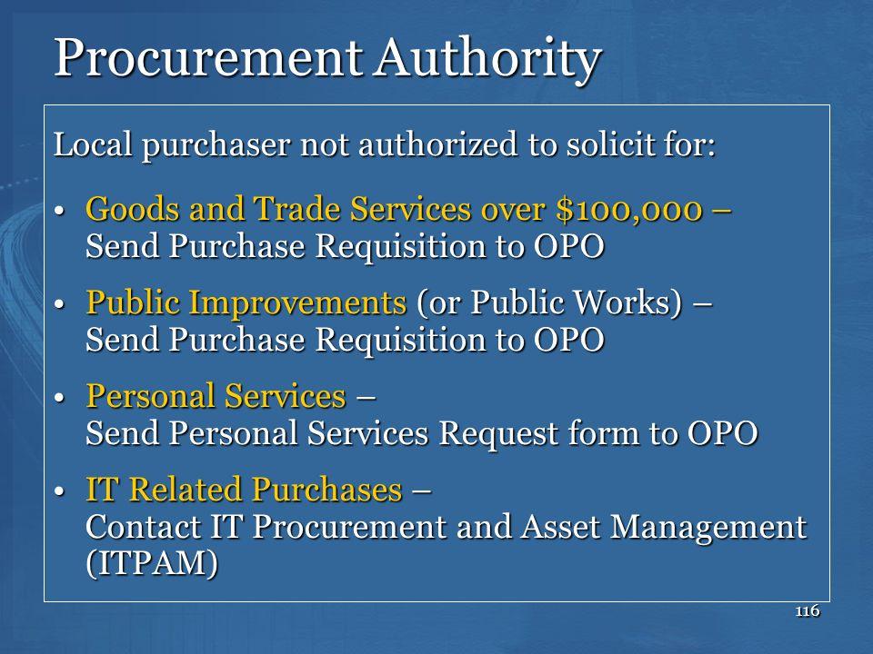 Procurement Authority