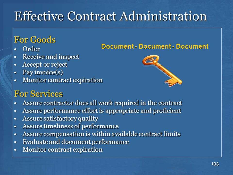Effective Contract Administration