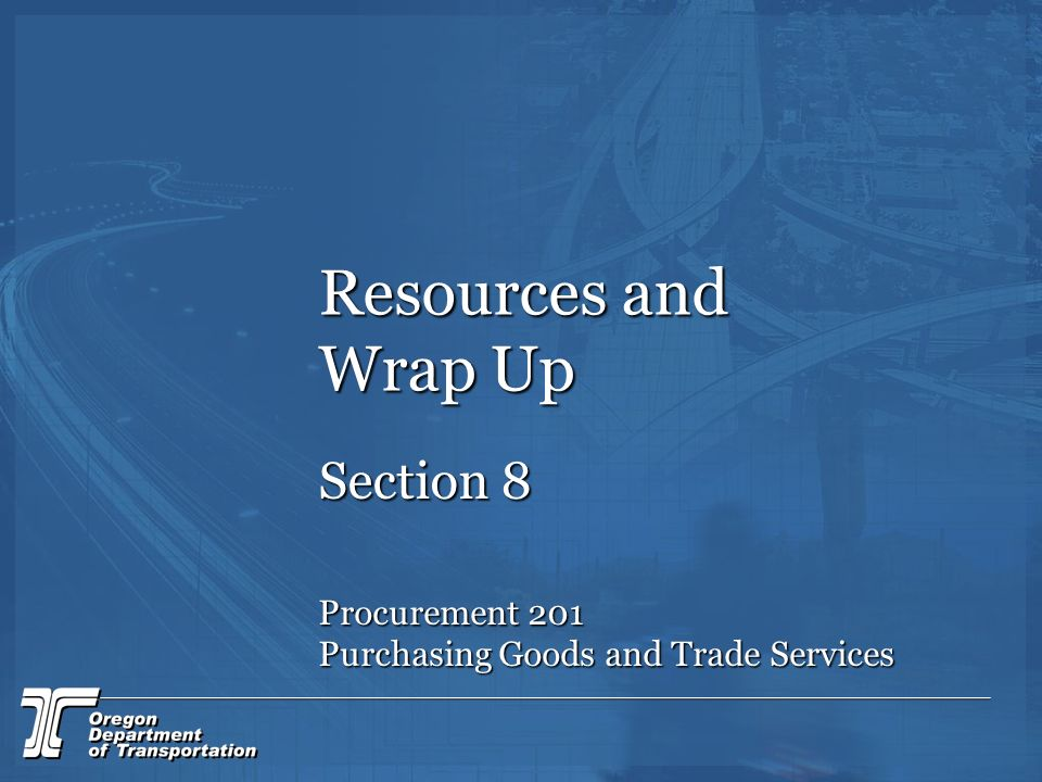 Resources and Wrap Up Section 8 Procurement 201