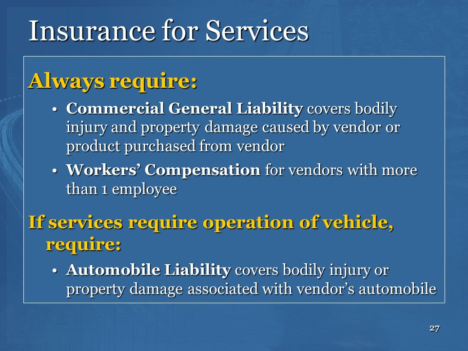 Insurance for Services