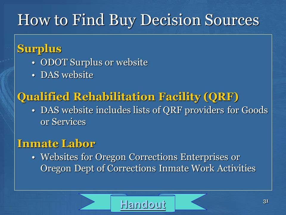 How to Find Buy Decision Sources