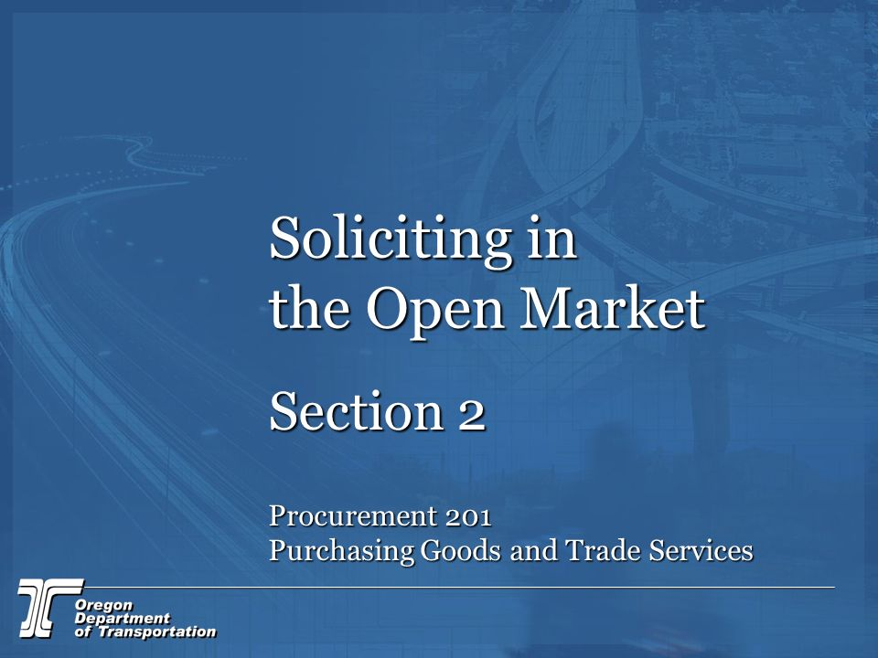 Soliciting in the Open Market