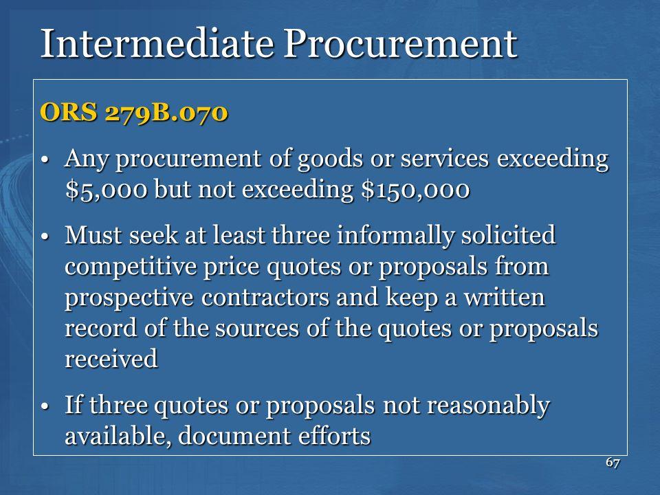 Intermediate Procurement