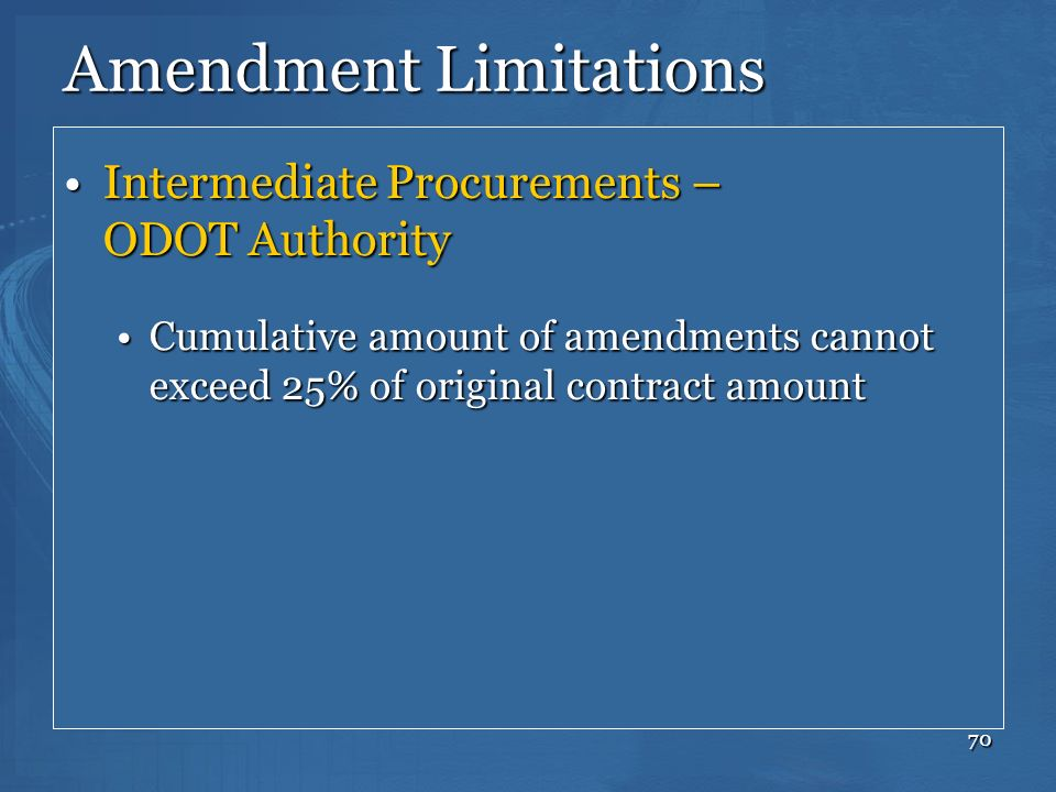 Amendment Limitations