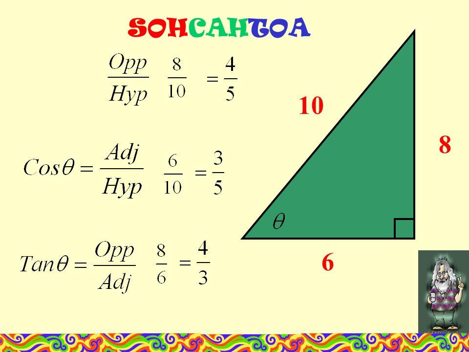 SOHCAHTOA 10 8 6
