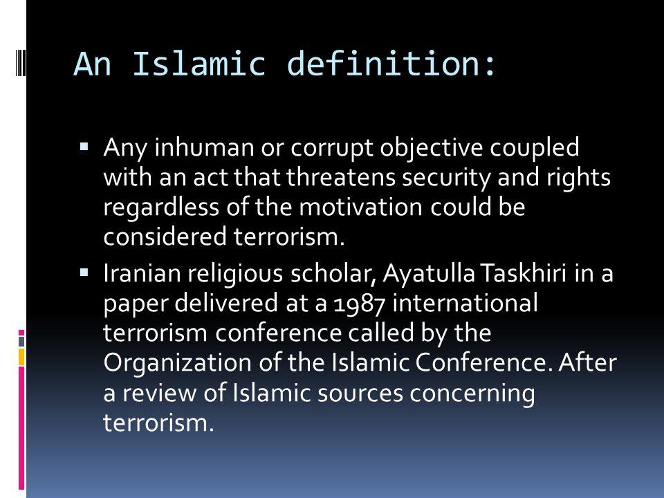 defining terrorism essay