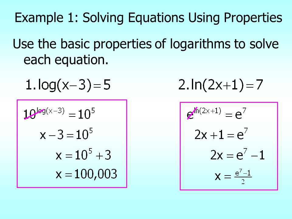 Example 1: Solving Equations Using Properties
