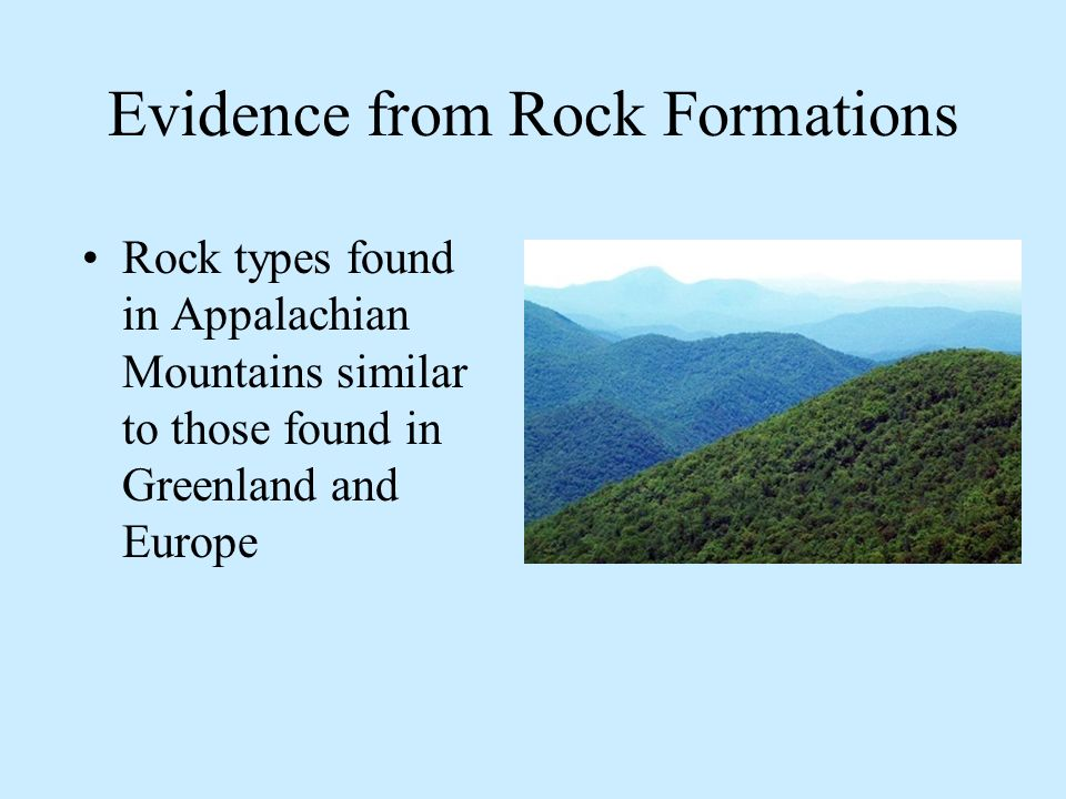 Evidence from Rock Formations