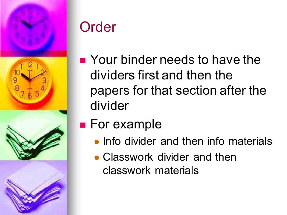 Middle School Math Binder Set Up. - ppt video online download