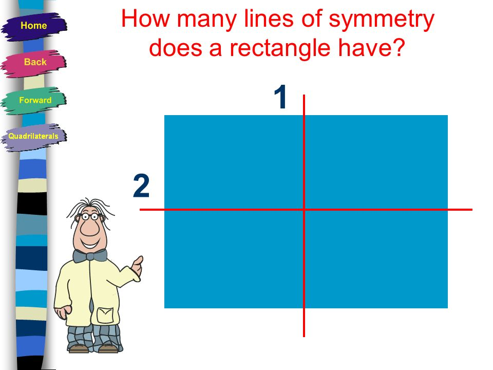 How many lines of symmetry does a rectangle have