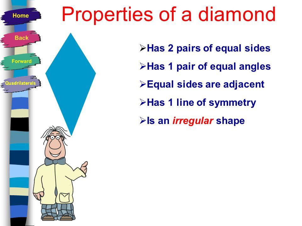 Properties of a diamond