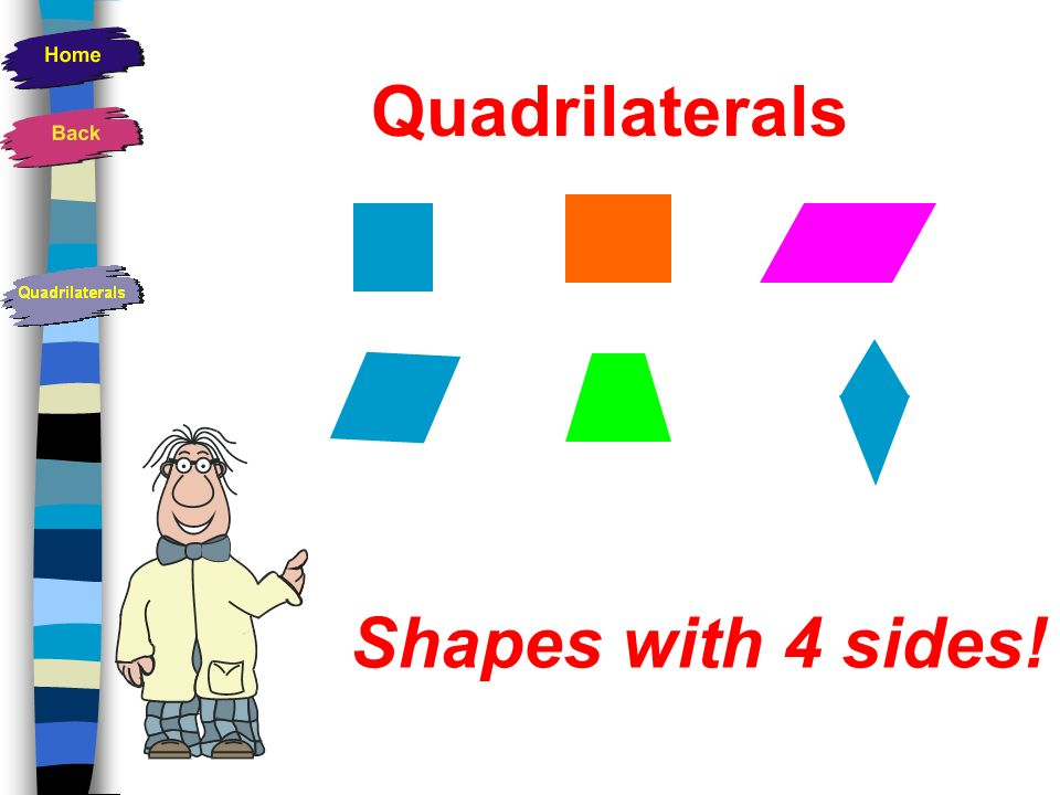 Quadrilaterals Shapes with 4 sides!