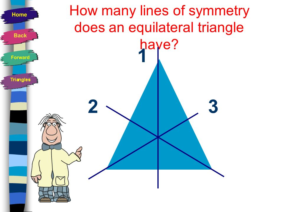How many lines of symmetry does an equilateral triangle have