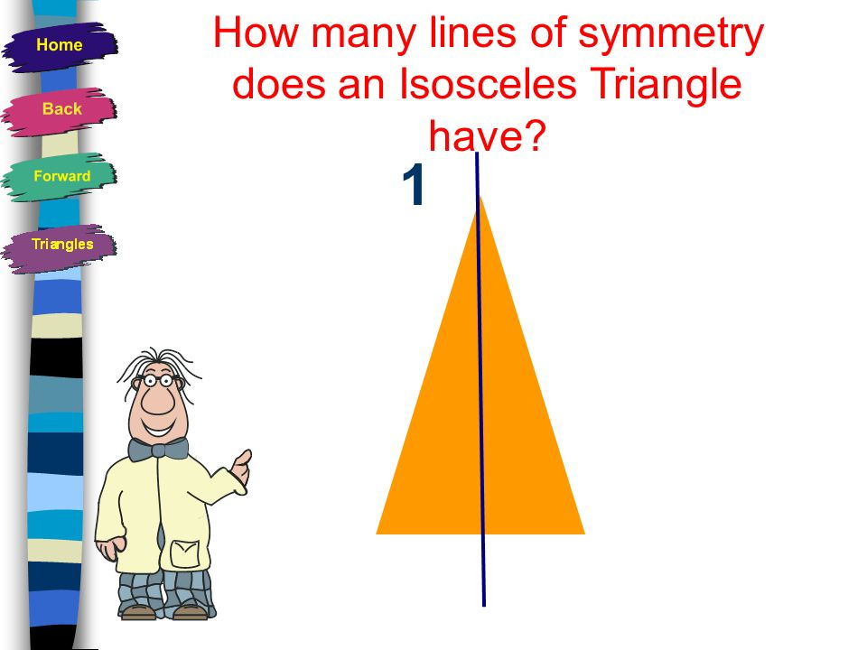 How many lines of symmetry does an Isosceles Triangle have