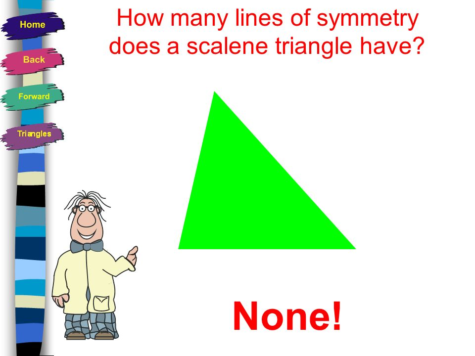 How many lines of symmetry does a scalene triangle have
