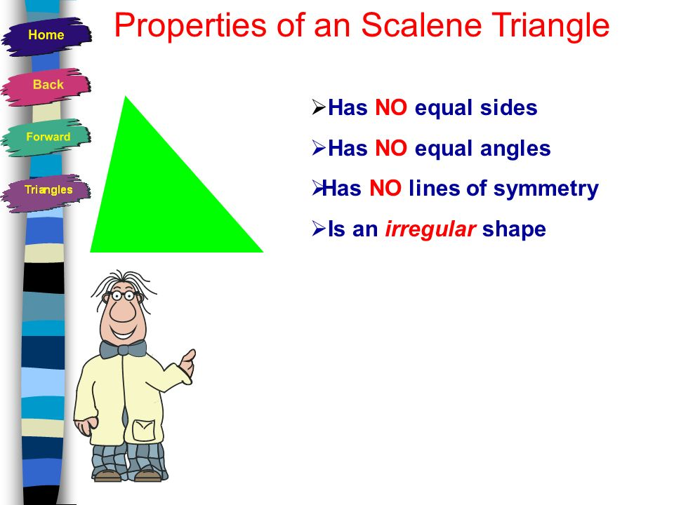 Properties of an Scalene Triangle