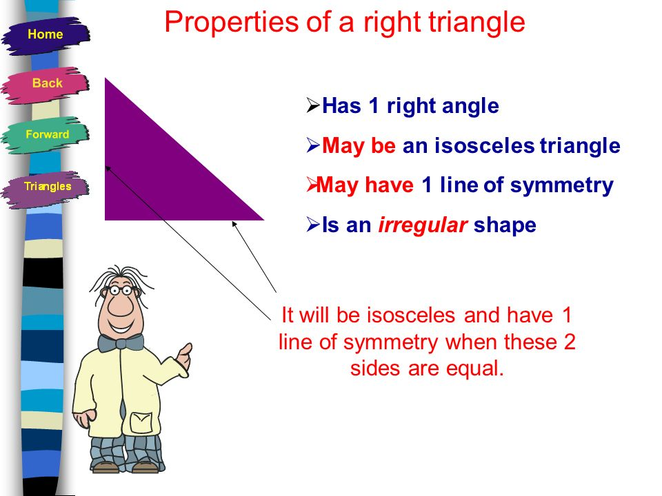 Properties of a right triangle